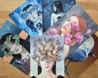 Set of 6 postcards | Mini Art Prints