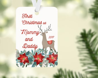 Mommy and Daddy First Christmas, Parents First Christmas, Parent Ornament
