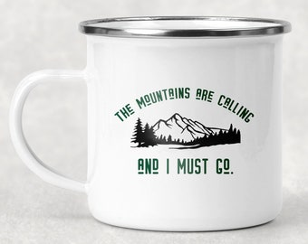 Mountains Are Calling Camp Mug,  Nature Camp Cup, Outdoor Lover Gift