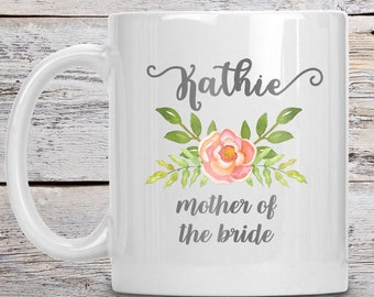 Personalized Mother of the Bride Mug, Mother of the Bride Gift, Custom Coffee Mug