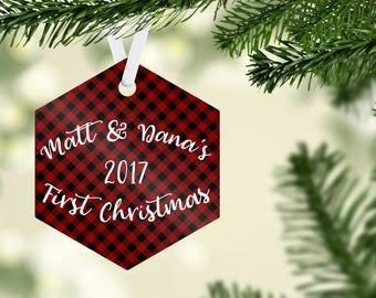 Couple's First Christmas, Our First Christmas, Custom Ornament