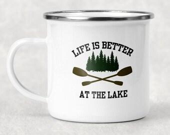 Life is Better at the Lake Camp Mug, Lake Life Mug, Outdoor Lover Gift