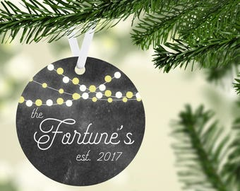 Family Established Ornament, Personalized Christmas Ornament