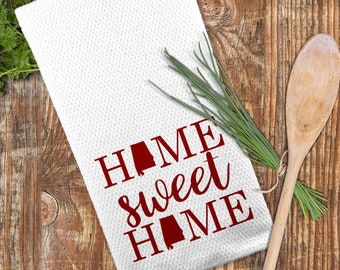 Home Sweet Home Towel, State Kitchen Towel, Custom State Towel