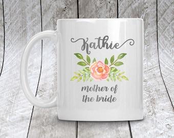 Mother of the Bride Mug, Personalized Wedding Party Coffee Mug