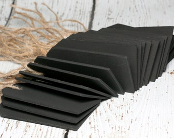 Chalkboard Tags with Twine, Set of 25