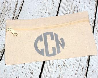 Circle Monogram Makeup Bag
