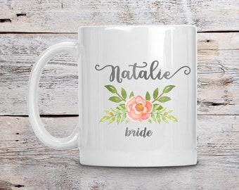 Personalized Bride Mug, Custom Bride Mug, Bride's Coffee Mug