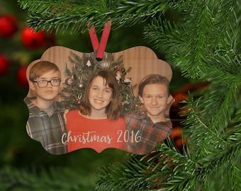 Custom Photo Ornament, Personalized Wood Ornament, Family Photo Ornament
