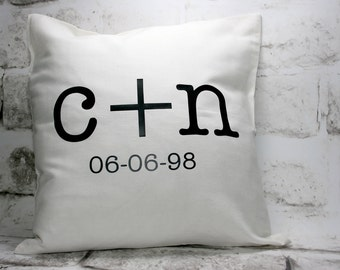 Personalized Wedding Pillow Cover, 16x16