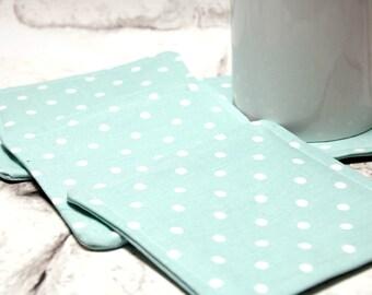 Blue Polka Dot Coaster Set