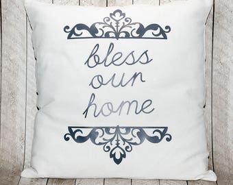 Bless Our Home Pillow Cover, 16x16