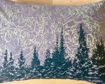 "15""x11"" Balsam fir pillow ""NORTHERN LIGHTS"" / Coussin aromatique au sapin baumier ""Aurores boréales"""