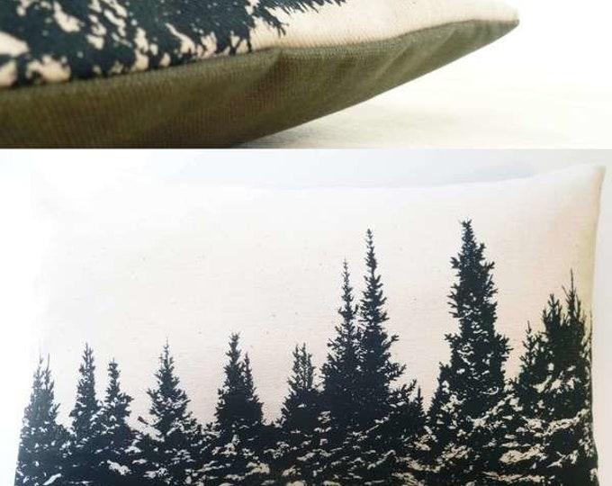 "15""x11"" Balsam fir pillow ""WINTERSCAPE"" / Coussin aromatique au sapin baumier ""Paysage hivernal"""