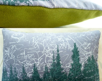 "11""x7"" Balsam fir pillow ""NORTHERN LIGHTS"" / Coussin aromatique au sapin baumier ""Aurores Boréales"""