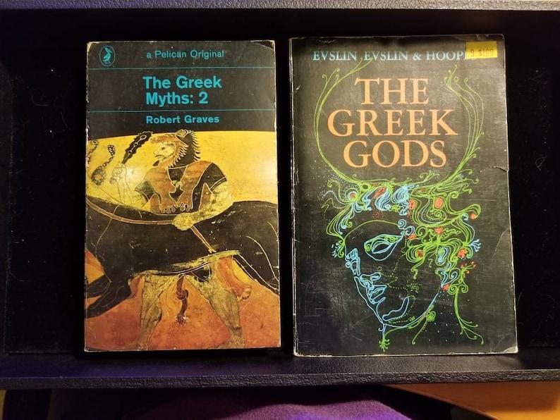 Set of 2 Mythology Books The Greek Myths: 2 by Robert Graves & The Greek  God's by Evselin Evslin Hoopes