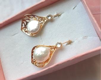 June Birthday Best for Bridal Half Drilled 7-8x5.5-6mm Wonderful lustrous 2pcs Gorgeous Genuine Small Fresh Water Teardrop Pearl