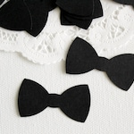 50 Black Tuxedo Bow Tie Die cuts punches cardstock 1 3/4 inch -Scrapbook, cards, embellishment, confetti