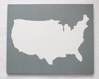 Customize Us Map.United States Diy Customize Map 16x20 Canvas Acrylic Etsy