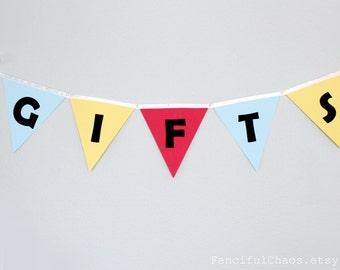 Gifts Table Banner Bunting Garland, Happy Birthday, 1st Birthday Banner, First Birthday, Party Decoration