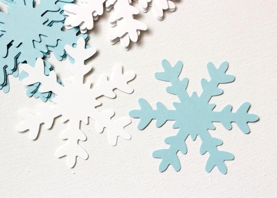 50 White Christmas Snowflake Die Cut Scrapbook Confetti Paper Punchies