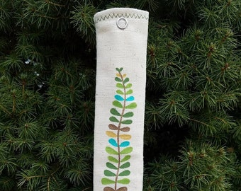 Padded Reusable Straw Sleeve: Fern