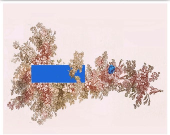 Original wall decor - modern minimal  art, Mixed media Decorative art POSTER 8x10