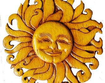 Sun Face Plaque Etsy