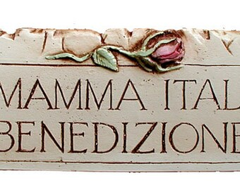 Italian Arrividerci Plaque Which Means Until We Meet Again Etsy