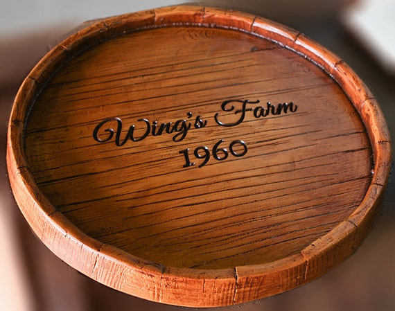 Wine Barrel Personalized Lazy Susan Etsy