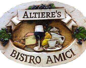 Bistro Amici Personalized Kitchen Sign