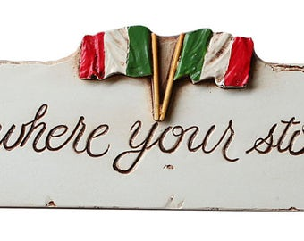 Italian wall decor Home is Where Your Story Begins
