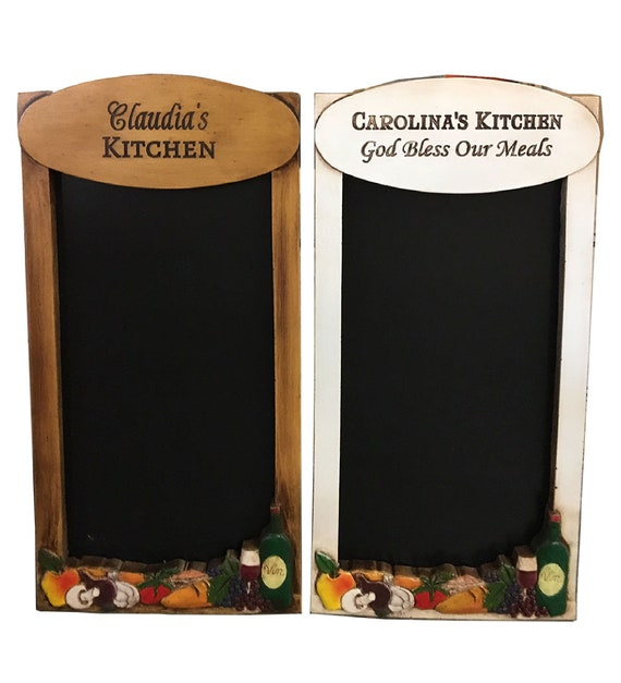 Kitchen Decorative Chalkboard Personalized with your Name or Phrase