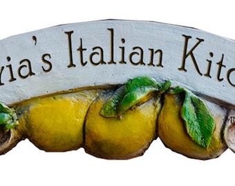 Personalized Lemon Decor Kitchen sign