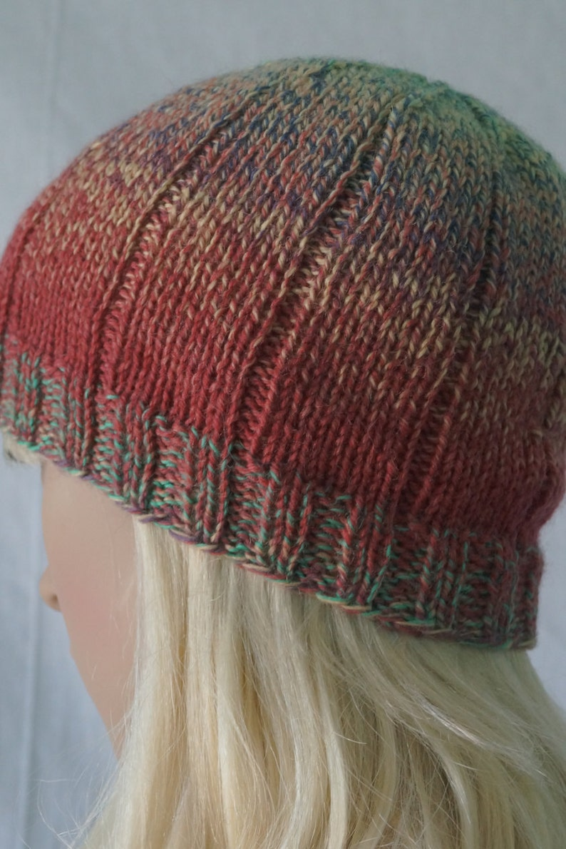 Hand Knit Mens Hat Hand Knit Wool Hat Hand Knit Christmas Gift Hand Knit Womens Hat