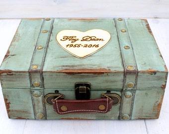 Keepsake Box Memory Box Baby Child Suitcase Trunk Time Capsule Anniversary  Box (MEDIUM)