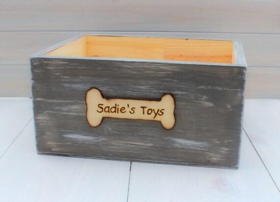 Toy Storage Dog Toy Storage Pet Toy Box Dog Toys Wood | Etsy