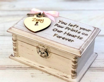 Pet Memorial - Pet Memory Box - Pet Loss Keepsake - Pet Urn - Pet Loss Gift - Pet Loss Remembrance - Rainbow Bridge Gift - Pet Sympathy