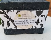 Charcoal Peppermint and Tea Tree Soap