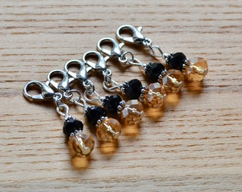 Snag Free Two Tone Crystal Crochet Stitch Markers Set, Crochet Tools, Gift for Crocheters, Chic Stitch Marker, Gift for Mam, Gift for Aunt