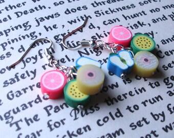 Fruit Earrings, Food Jewelry, 16th Birthday Gift, Teenage Girl Gift, Tiny Earrings, Everyday Glamour, Bargain Earrings, FIMO Earrings