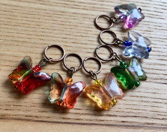 Snag Free Butterfly Knitting Stitch Markers Set of 6, Knitting Tools, Gift for Knitters, Chic Stitch Marker, Gift for Mum, Gift for Her