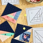 "Pattern Bundle - 1"", 2"", & 3"" Scrappy Triangles from The Tiny Piecing Collection - foundation paper pieced quilt block patterns"