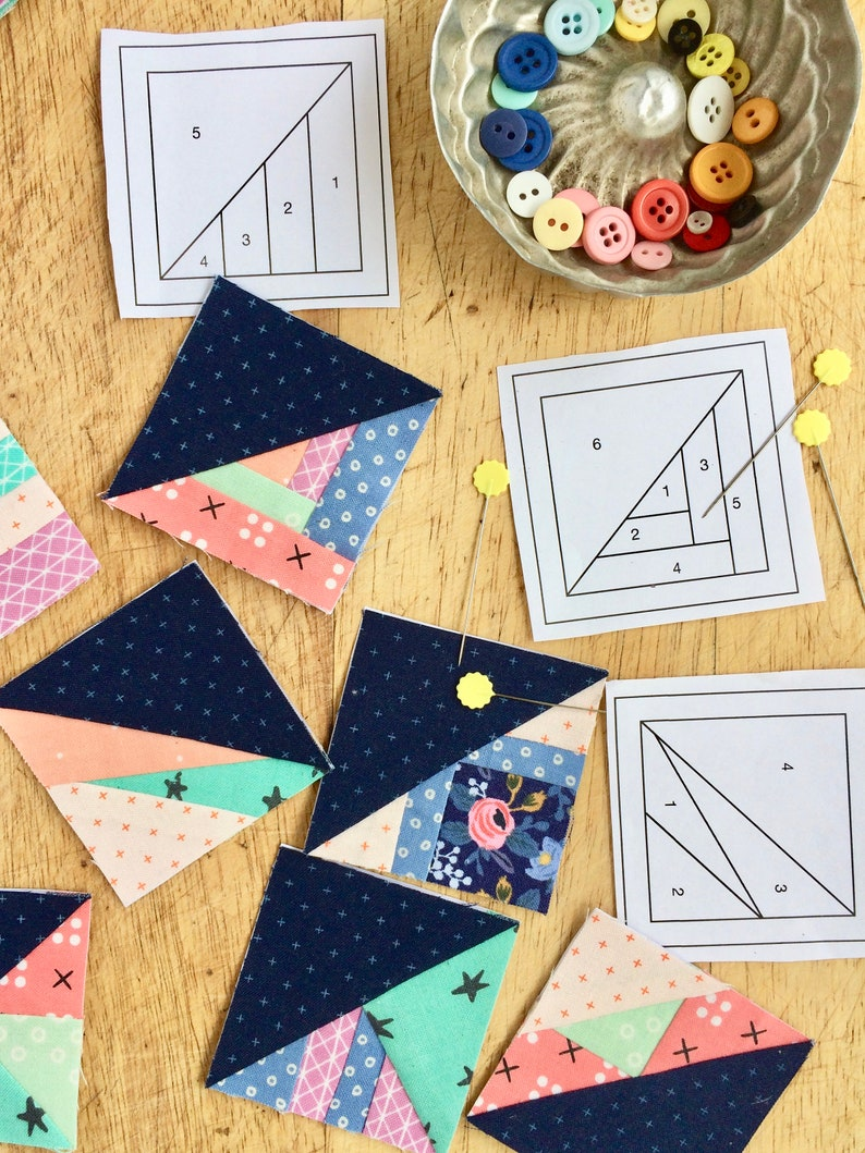 Pattern Bundle  1 2 & 3 Scrappy Triangles image 0