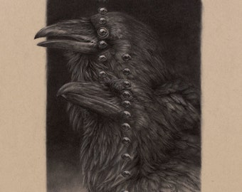 The Brothers- 8 x 10 fine art print - Norse Ravens