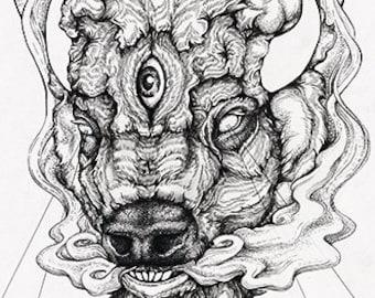 O r i g i n a l - Harbinger II - original ink drawing