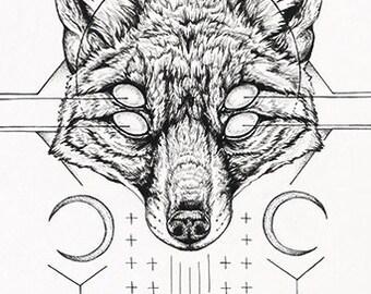O r i g i n a l - Harbinger I - original ink drawing