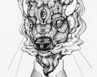 Harbinger II - buffalo bison fine art print
