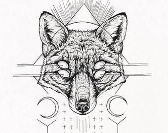 Harbinger I - fox fine art print