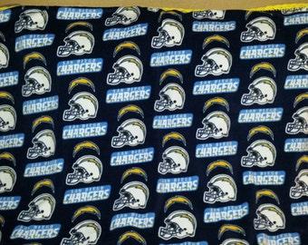 San Diego Chargers Crocheted Fleece Blanket